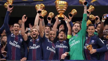 法联杯-迪马利亚2传1射卡瓦尼2球 巴黎4-1摩纳哥夺冠