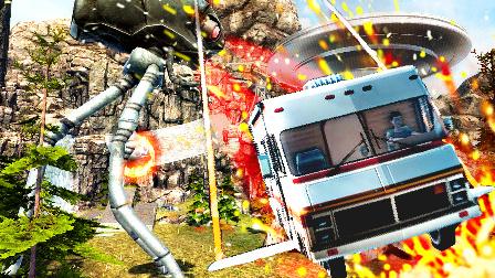 【屌德斯解说】 露营车模拟器 在野生动物园里居然遇到外星人和UFO以及侏罗纪恐龙!