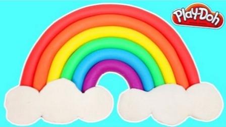 培乐多彩泥粘土玩具 创意DIY自制彩虹