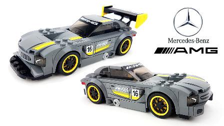 【月光砖厂】LEGO乐高SPEED超级赛车系列梅赛德斯奔驰AMG GT3乐高积木速组评测.mp4