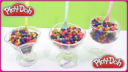 缤纷美味三杯巧克力豆;培乐多彩泥粘土惊喜蛋玩具!小猪佩奇奥特曼 #彩虹乐园#