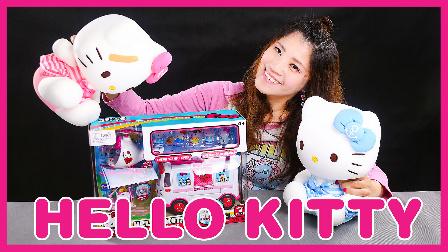 迪士尼姐姐真人秀 凯蒂猫Holle kitty 凯利和朋友们 玩具开箱 小伶玩具