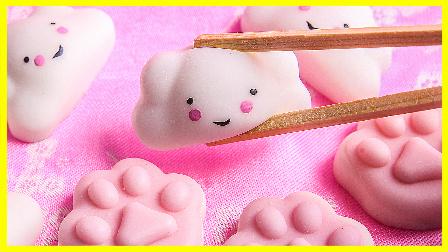 手工制作白云熊掌捏捏球 培乐多彩泥粘土 玩具试玩 儿童玩具 亲子互动 欢乐迪士尼