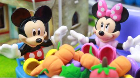 『奇趣箱』米奇妙妙屋玩具故事:托马斯小火车载米奇参观菜园,参加米妮的米奇妙妙屋蔬菜派对