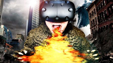 【屌德斯解说】 VR怪兽模拟器 变身巨型哥斯拉并发射出奥特曼的必杀光线毁灭城市!