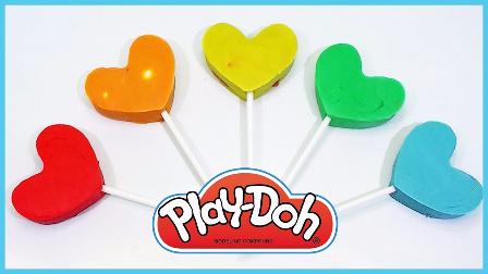 培乐多彩泥爱心棒棒糖 彩虹冰棒惊喜蛋 趣味卡通玩具试玩 小猪佩奇