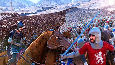 【屌德斯解说】 全面史诗战争模拟器 挑战电脑极限!一万个骑兵大战一万个中世纪战士!
