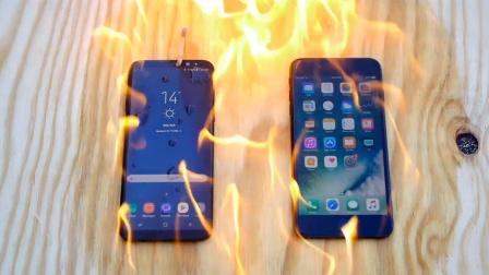 【科技微讯】淋上汽油,烧了三星S8、苹果7