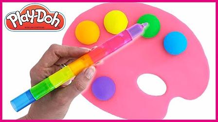 手工制作画板上颜色 彩虹培乐多画板球球 儿童玩具 亲子互动