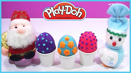圣诞节惊喜蛋玩具试玩 雪宝仙人掌健达奇趣蛋 儿童玩具 卡通动画 圣诞老人