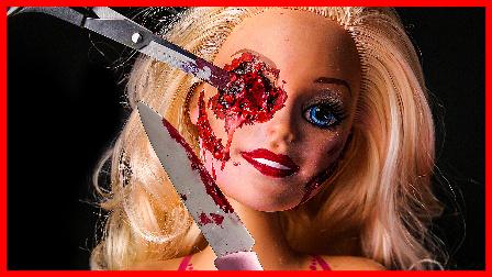 手工制作芭比娃娃化妆 恶搞亲子手工视频 儿童玩具 亲子早教