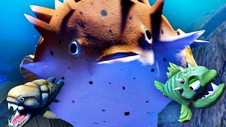 【屌德斯解说】 模拟食人鱼 新物种河豚登场!变身巨型深海炸弹炸死所有生物!