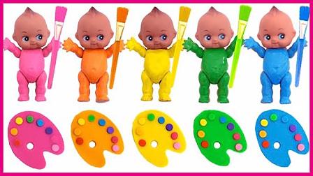 亲子互动彩色宝宝玩具试玩 培乐多彩泥粘土魔术涂鸦 儿童玩具 亲子手工视频教学
