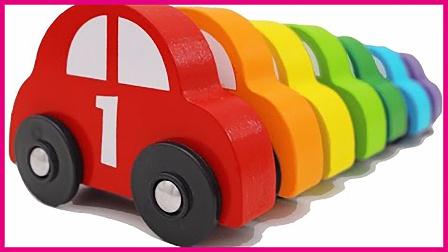 亲子早教益智数字车 儿童玩具车配对彩色门 亲子互动 玩具试玩