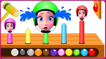亲子早教彩虹球学颜色 儿童益智视频教学 亲子互动 儿童玩具 卡通动画