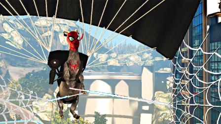 【屌德斯解说】 模拟山羊 绳索降落伞MOD 变身蜘蛛侠不仅能吐丝还能飞!