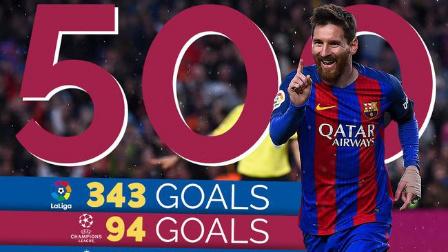 德比之王!梅西巴萨500球全记录 (2004-2017)
