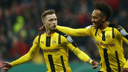 德国杯-罗伊斯奥巴梅扬破门 多特3-2拜仁进决赛