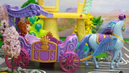 『奇趣箱』小公主苏菲亚:巫婆魔法让小公主苏菲亚灰姑娘白雪公主的苹果派消失,怎么办