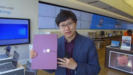 「科技美学」 Microsoft Build 2017 现场 Surface Laptop体验