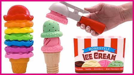 牛奶水果冰淇淋玩具过家家 亲子互动趣味玩具小游戏 秦时明月 熊出没 彩虹乐园
