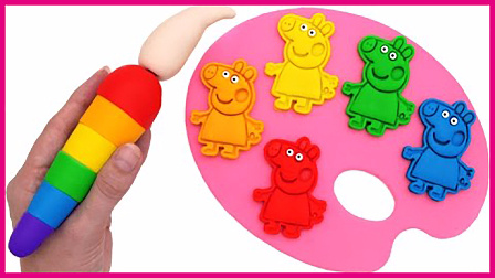 小猪佩奇彩色画板趣味学玩 亲子互动趣味卡通玩具试玩 火影忍者 熊出没 彩虹乐园