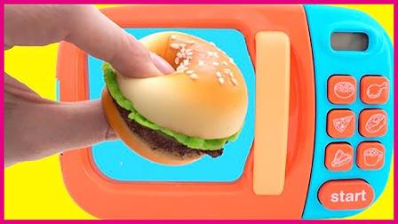 亲子玩具汉堡包制作扮家家 亲子互动萌宝美食创意DIY 小猪佩奇 熊出没 火影忍者
