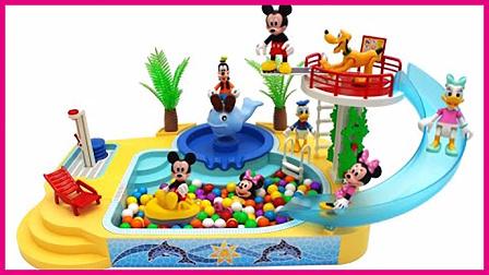 米老鼠和唐老鸭的游乐场 高飞狗会跳水玩具试玩哦 小猪佩奇 熊出没 彩虹乐园