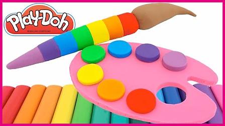 彩虹培乐多画板颜色教学 亲子互动玩具趣味教学视频 熊出没 奥特曼 小猪佩奇