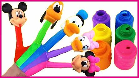 彩虹泡泡糖果手指玩具试玩 亲子互动迪士尼米老鼠玩具 小猪佩奇 火影忍者 熊出没 彩虹乐园