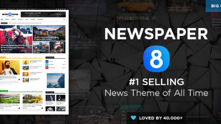 Newspaper 8 - The Best Premium News WordPress Theme by tagDiv