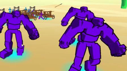 【逍遥小枫】绝对碾压,石头人大进军!  全面战争模拟器3D#2