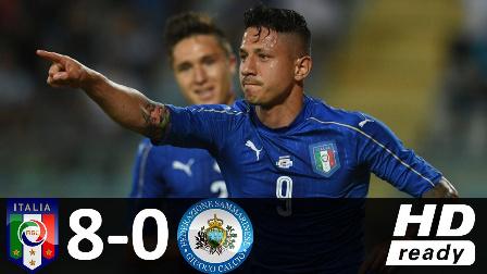 热身赛-拉帕杜拉戴帽孔蒂3助攻 意大利14人首秀8-0狂胜