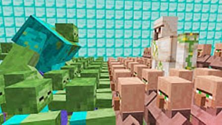 大海解说 我的世界Minecraft 空难逃生铁傀儡救援