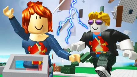 【小熙&屌德斯】Roblox 自然灾害模拟器 搞笑兄妹被雷劈到散架又遇到龙卷风!