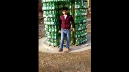 摆脱地心引力, 啤酒瓶能摆多高? 又开挂了