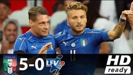 因西涅贝罗蒂传射埃德尔破门 意大利5-0列支敦士登