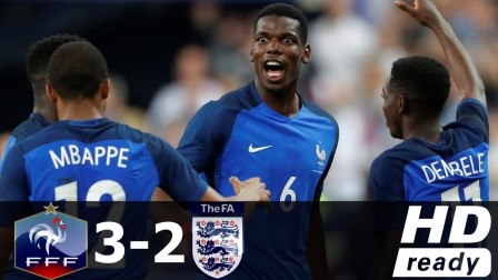 热身赛-凯恩2球姆巴佩助绝杀 10人法国3-2英格兰