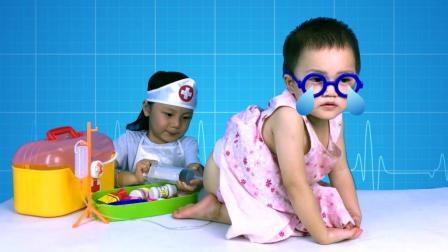 娃娃看病打屁股针医生打针玩具