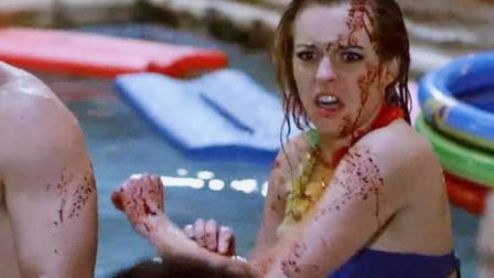美女们开泳池派对, 被一条不正经的鲨鱼给搅黄了