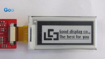 GDE021A1 2.04寸电子纸刷新视频  小尺寸开发板 开发套件