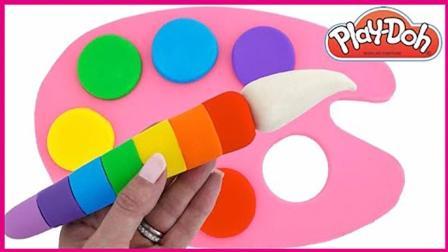 画板彩虹调色棒玩具试玩 亲子手工彩虹颜料玩具游戏 小猪佩奇 奥特曼 熊出没 秦时明月