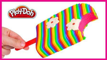 花朵细条彩虹培乐多冰棒 橡皮泥儿童玩具智力手工游戏 小猪佩奇 火影忍者 奥特曼