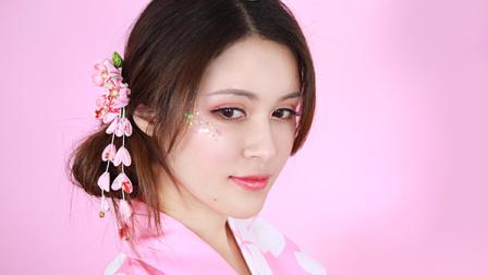 日系和服人鱼姬樱花妆 【我是小小b】