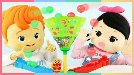 凯文和凯利的面包超人投篮玩具游戏 | 凯利和玩具朋友们 CarrieAndToys