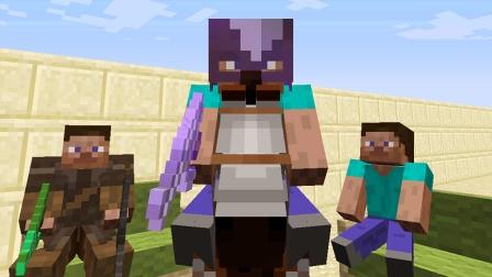 大海解说 我的世界Minecraft 荒野牛仔大战村庄土匪