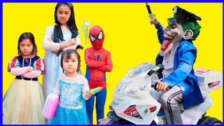 黑魔法女巫的神奇冰冻草魔法术 婴儿医生解冻艾莎公主真人秀 卡通动画 蜘蛛侠 美国队长