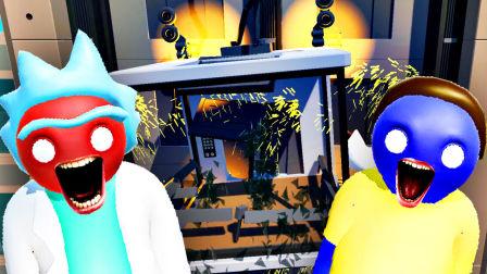 【屌德斯&小熙】 基佬大乱斗 全新人物场景瑞克和莫提遇惊天BUG电梯居然爆炸了!