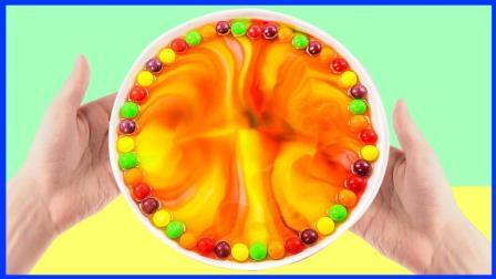 3分钟奇趣玩具水泡彩虹糖 亲子互动美食玩具小实验视频 小猪佩奇 熊出没 秦时明月