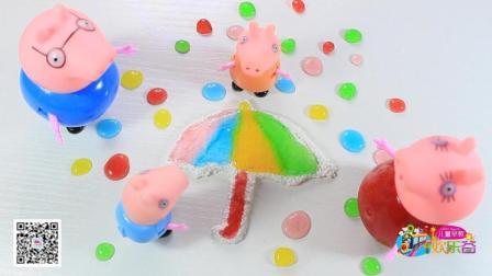 亲子手工制作彩虹小伞和雨滴 234
